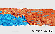 """Political Panoramic Map of the area around 43°27'40""""N,12°49'29""""E"""