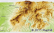 """Physical 3D Map of the area around 43°27'40""""N,142°52'30""""E"""