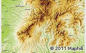 """Physical Map of the area around 43°27'40""""N,142°52'30""""E"""
