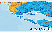 Political 3D Map of Solin