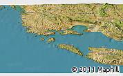 Satellite 3D Map of Trogir