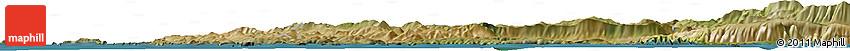 Satellite Horizon Map of Trogir