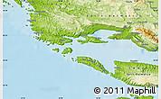 Physical Map of Trogir