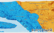 Political 3D Map of Makarska