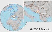 Gray Location Map of Batkovići