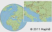 Savanna Style Location Map of Batkovići