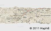 Shaded Relief Panoramic Map of Batkovići