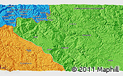 """Political 3D Map of the area around 43°27'40""""N,19°37'30""""E"""
