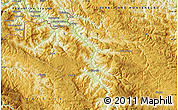 """Physical Map of the area around 43°27'40""""N,19°37'30""""E"""