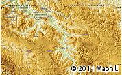Physical Map of Pljevlja