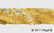 """Physical Panoramic Map of the area around 43°27'40""""N,19°37'30""""E"""
