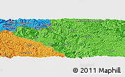 """Political Panoramic Map of the area around 43°27'40""""N,19°37'30""""E"""
