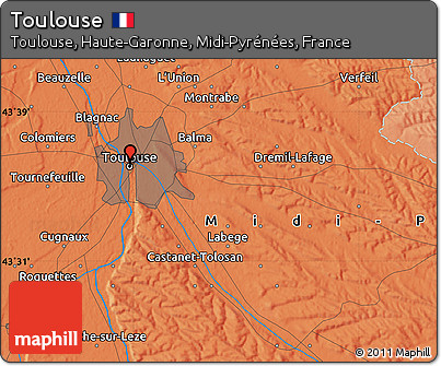 Political Map of Toulouse