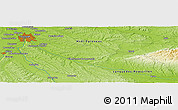 Physical Panoramic Map of Cugnaux