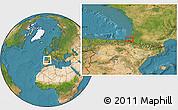 Satellite Location Map of Labenne