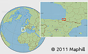 Savanna Style Location Map of Labenne