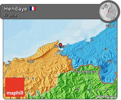 Hendaye France Map.Free Political Map Of Hendaye