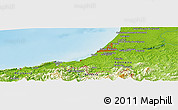 Physical Panoramic Map of Oria
