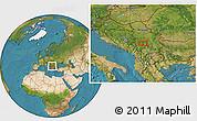 Satellite Location Map of Ivanjica