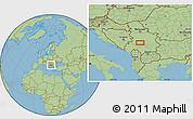 Savanna Style Location Map of Ivanjica