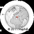 Outline Map of Čajetina, rectangular outline
