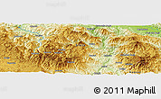 """Physical Panoramic Map of the area around 43°27'40""""N,20°28'30""""E"""