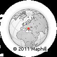 Outline Map of Granichak, rectangular outline