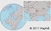 Gray Location Map of Beli Breg