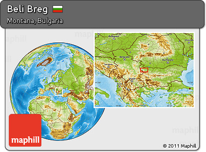 Physical Location Map of Beli Breg