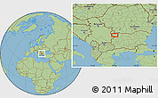 Savanna Style Location Map of Beli Breg