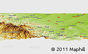 Physical Panoramic Map of Chiprovtsi