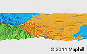 Political Panoramic Map of Chiprovtsi