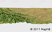 "Satellite Panoramic Map of the area around 43° 27' 40"" N, 23° 1' 29"" E"