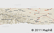 Shaded Relief Panoramic Map of Glavatsi