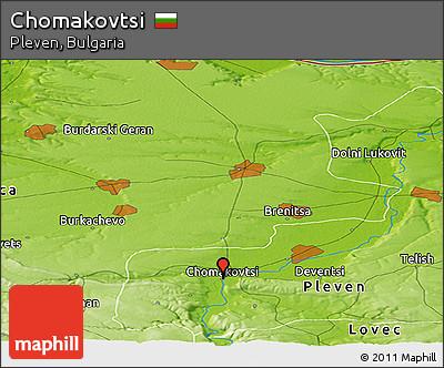 Physical Panoramic Map of Chomakovtsi