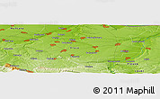 "Physical Panoramic Map of the area around 43° 27' 40"" N, 23° 52' 30"" E"