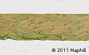 "Satellite Panoramic Map of the area around 43° 27' 40"" N, 23° 52' 30"" E"