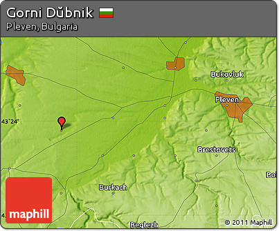 Physical Map of Gorni Dŭbnik