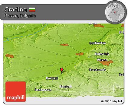 Physical Panoramic Map of Gradina