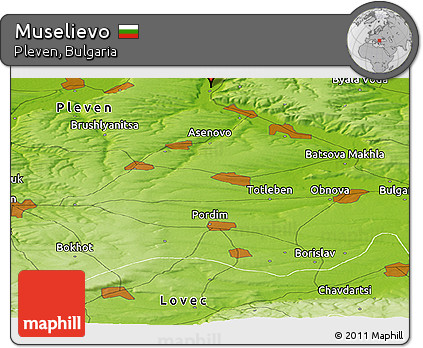 Physical Panoramic Map of Muselievo