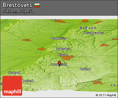 Physical Panoramic Map of Brestovets