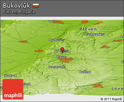Physical Panoramic Map of Bukovlŭk