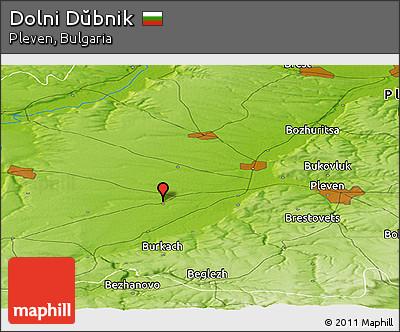 Physical Panoramic Map of Dolni Dŭbnik