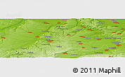 "Physical Panoramic Map of the area around 43° 27' 40"" N, 24° 43' 30"" E"