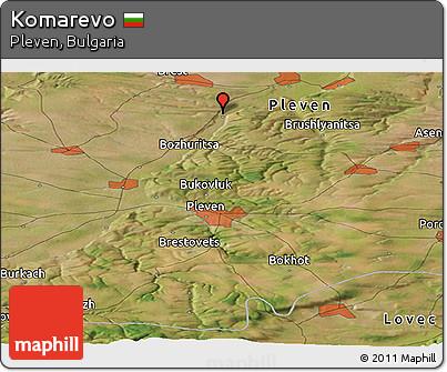 Satellite Panoramic Map of Komarevo