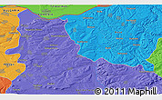 """Political 3D Map of the area around 43°27'40""""N,25°34'30""""E"""