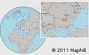 Gray Location Map of Chervena
