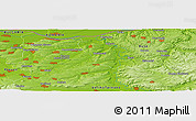 "Physical Panoramic Map of the area around 43° 27' 40"" N, 25° 34' 30"" E"