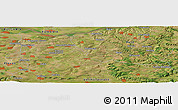 Satellite Panoramic Map of Bŭlgarsko Slivovo