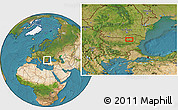 """Satellite Location Map of the area around 43°27'40""""N,26°25'29""""E"""